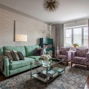 комната с диваном фото оформления