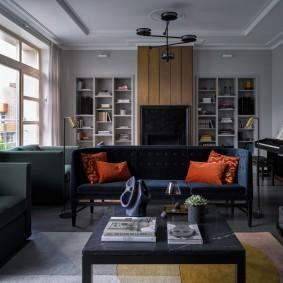 комната с диваном идеи оформления