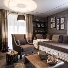 комната с диваном идеи варианты