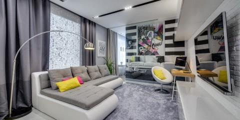 комната с диваном виды идеи