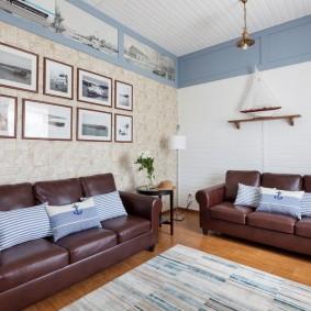 комната в морском стиле декор