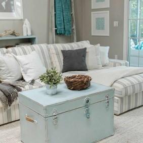 комната в морском стиле фото декор