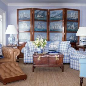 комната в морском стиле интерьер идеи