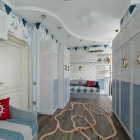комната в морском стиле идеи интерьер
