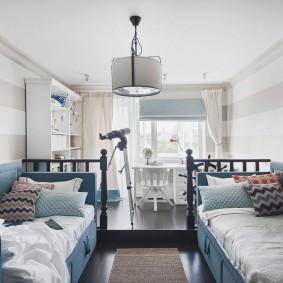 комната в морском стиле идеи интерьера