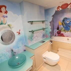 комната в морском стиле оформление