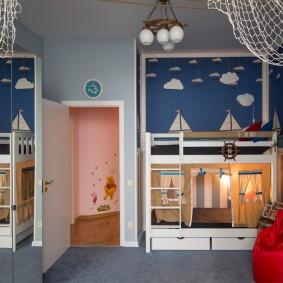 комната в морском стиле фото оформления