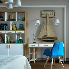 комната в морском стиле варианты фото