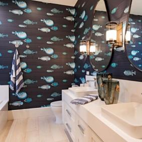 комната в морском стиле варианты идеи