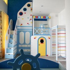 комната в морском стиле виды декора