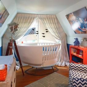 комната в морском стиле виды оформления