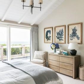 комната в морском стиле дизайн