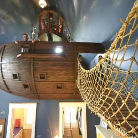 комната в морском стиле дизайн фото