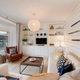 комната в морском стиле фото дизайна