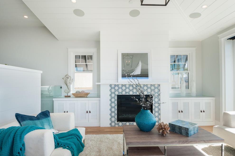 комната в морском стиле фото дизайн
