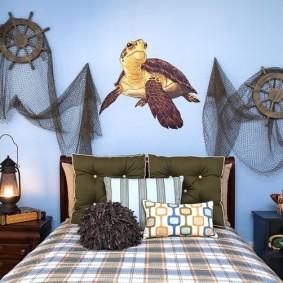 комната в морском стиле фото идеи