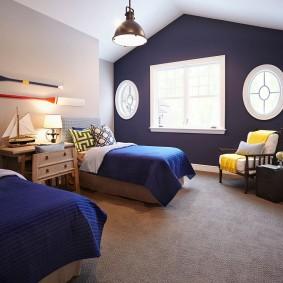комната в морском стиле идеи