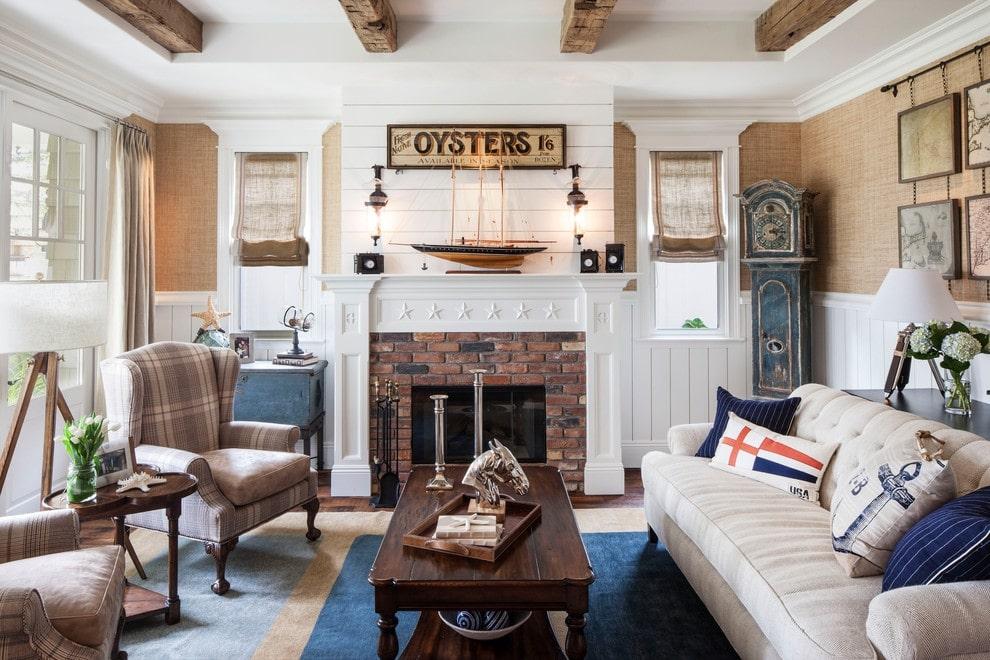 комната в морском стиле идеи дизайна