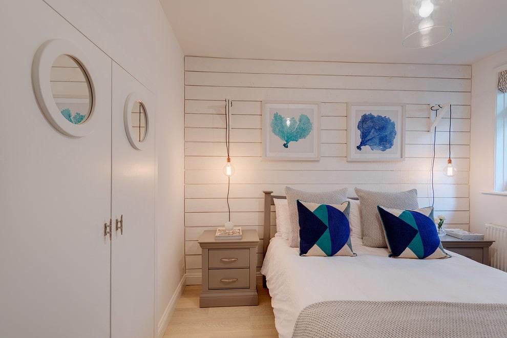 комната в морском стиле спальня
