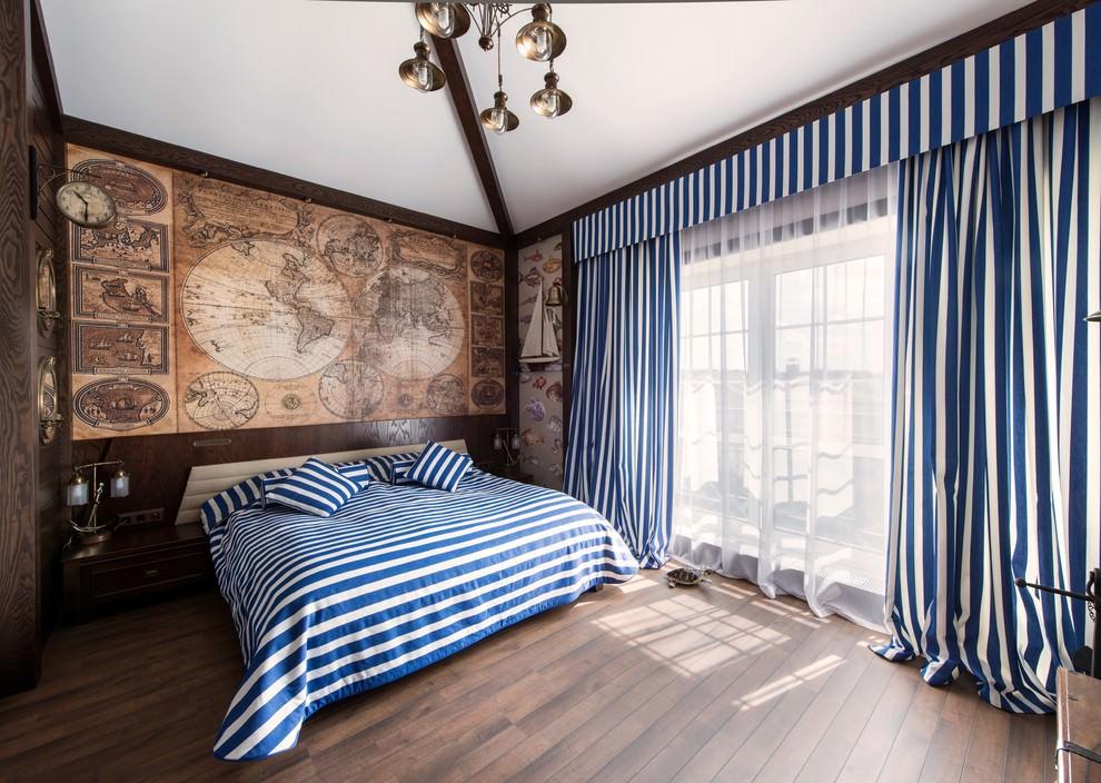 комната в морском стиле текстиль