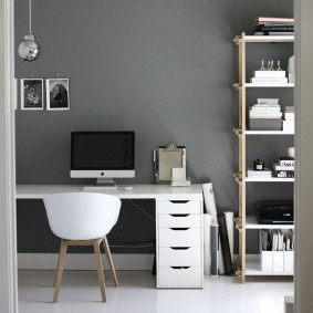 комната в серых тонах декор фото