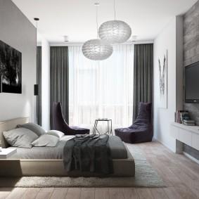 комната в серых тонах фото декора