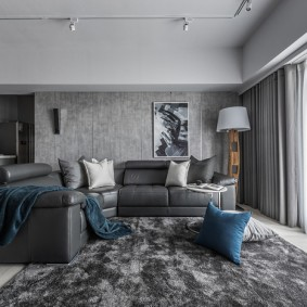 комната в серых тонах фото интерьер