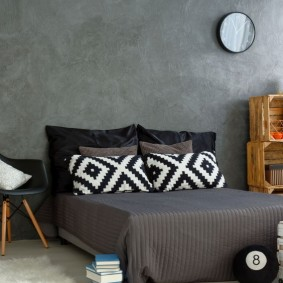 комната в серых тонах идеи фото