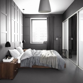комната в серых тонах оформление идеи