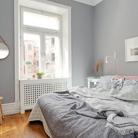 комната в серых тонах варианты