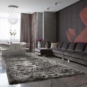 комната в серых тонах фото варианты