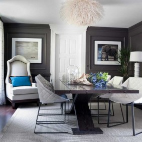 комната в серых тонах виды оформления