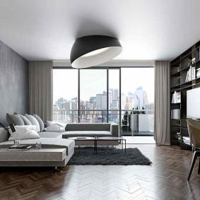 комната в серых тонах фото дизайн