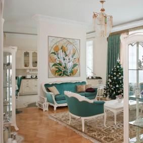 комната в стиле модерн варианты