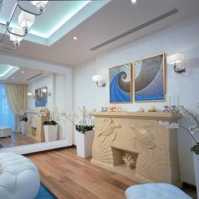 комната в стиле модерн оформление идеи