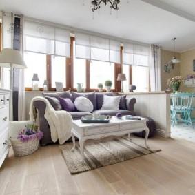 комната в стиле прованс фото интерьера