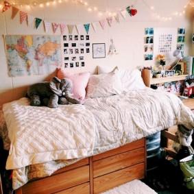 комната в стиле tumblr интерьер