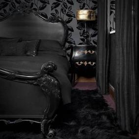 комната в тёмных тонах идеи оформления