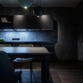 комната в тёмных тонах виды дизайна