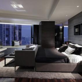 комната в тёмных тонах дизайн