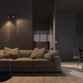комната в тёмных тонах фото дизайна