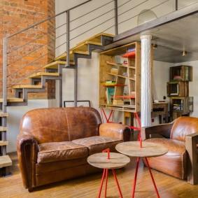 коричневый диван в гостиной идеи дизайн