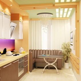 коричневый диван в гостиной идеи вариантов