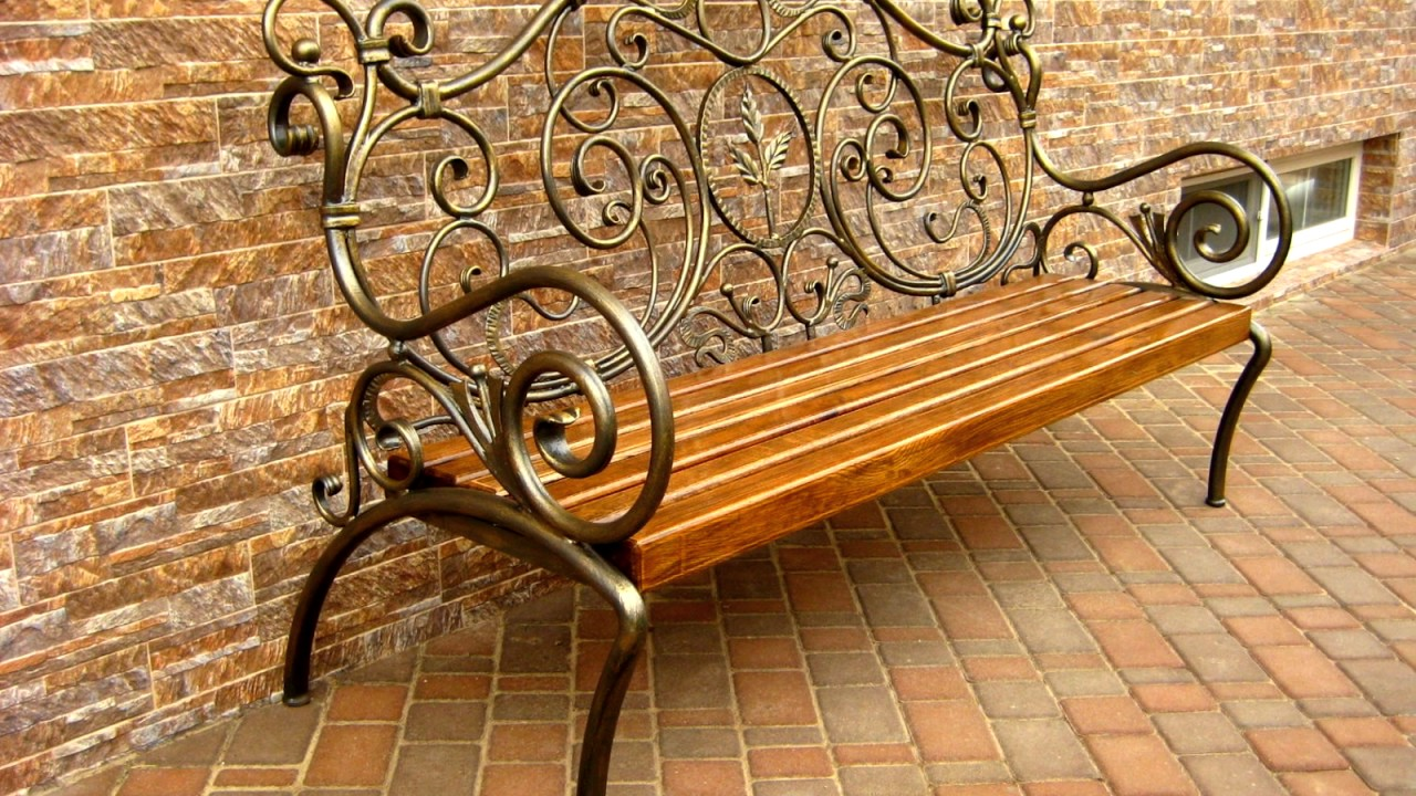 кованые скамейки для участка