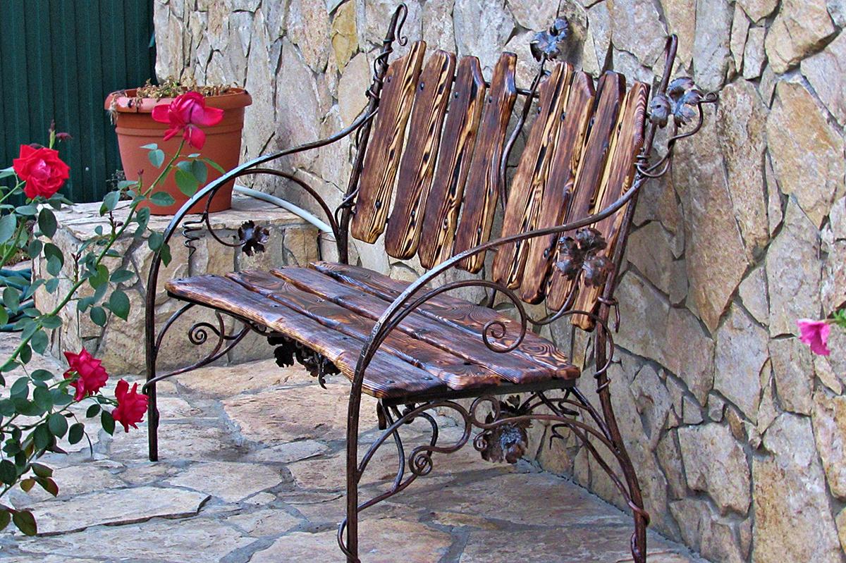 кованые скамейки французский стиль