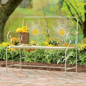 кованые скамейки для сада фото