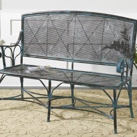 кованые скамейки для сада декор фото