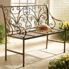 кованые скамейки для сада фото декора