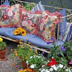 кованые скамейки для сада оформление фото