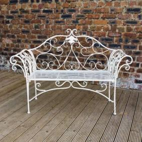 кованые скамейки для сада фото оформление